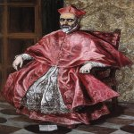 El Greco (1541-1614)  Portrait of a Cardinal  Oil on canvas, c.1600  76 3/8 x 51 1/8 inches (194 x 130 cm)  Metropolitan Museum of Art, Manhattan, New York, USA